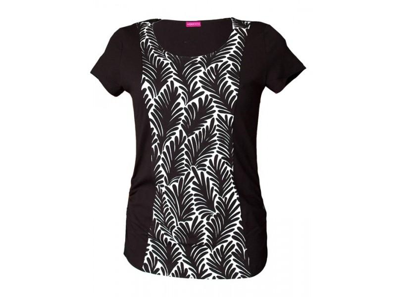 černobílé triko