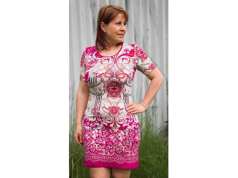 šaty s potiskem
