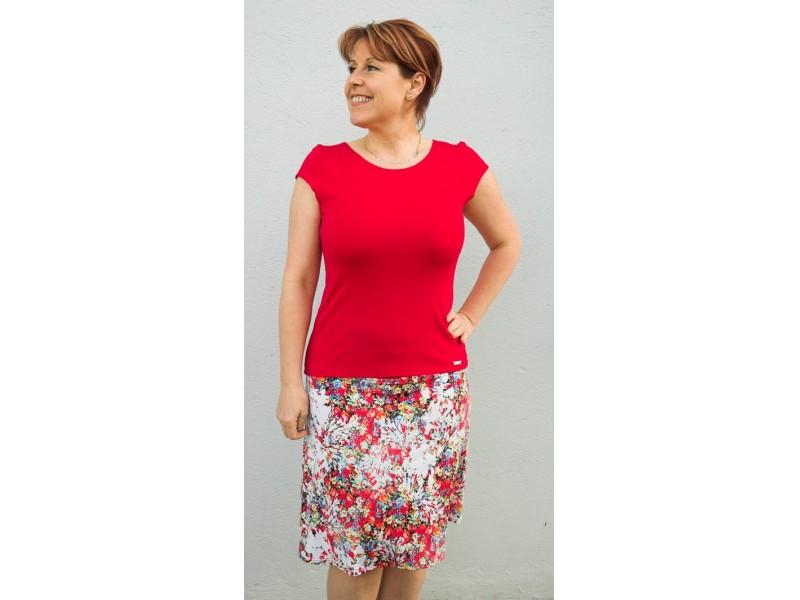 Červené tričko s rukávkem