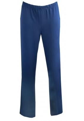 Tmavě modré elastické kalhoty