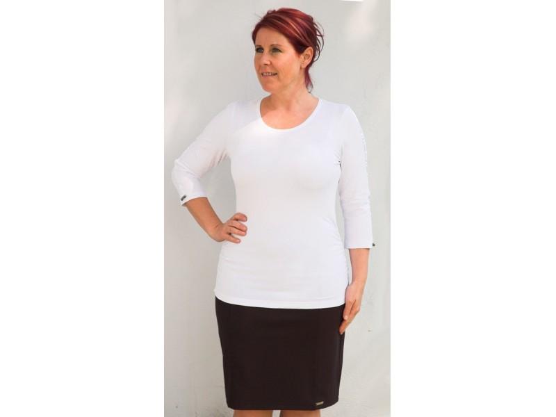 Bílé triko s 3/4 rukávem