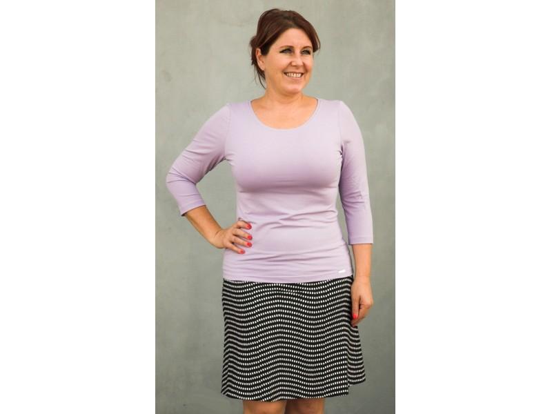 Fialové jednobarevné triko