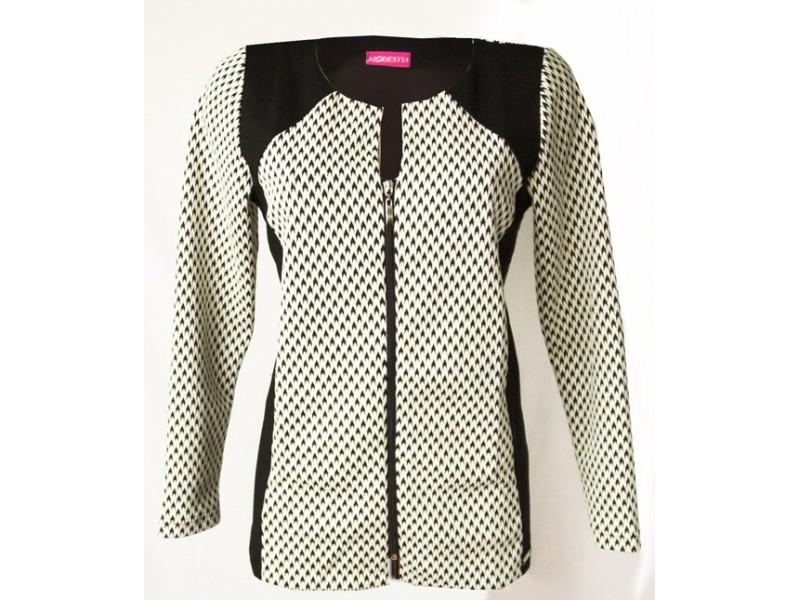 Elegantní černo-bílé sako