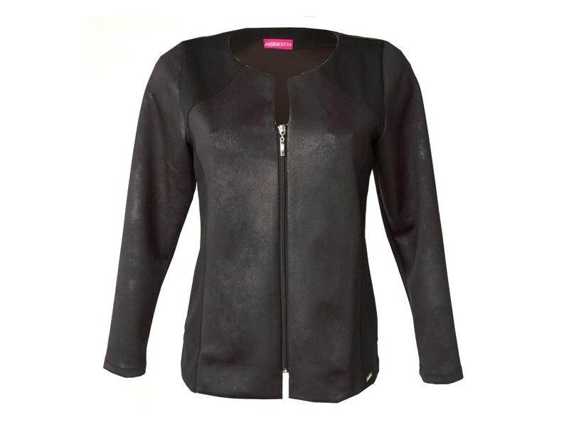Černé sako na zip