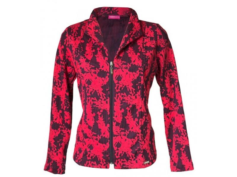 Růžovo-modré sako