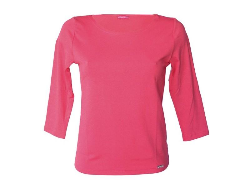Růžové triko s 3/4 rukávem