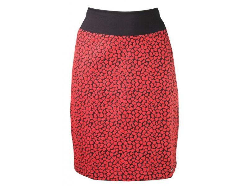 Červeno-černá sukně