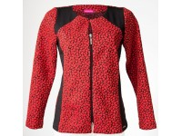 Elegantní červeno-černé sako