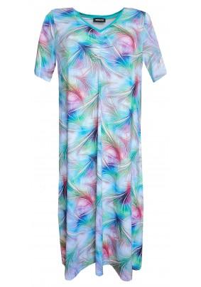 Noční košile s tiskem v pastelových barvách