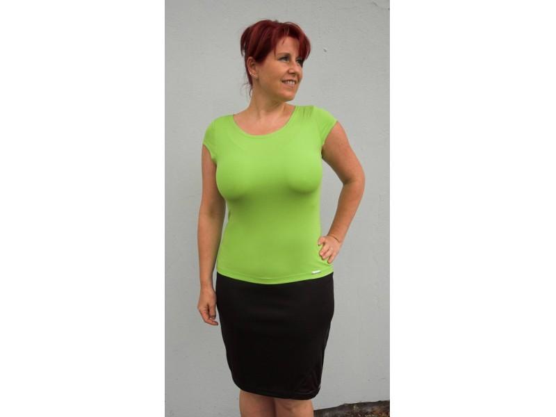 Zelené jednobarevné triko