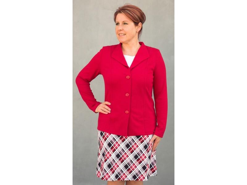Červené jednobarevné sako