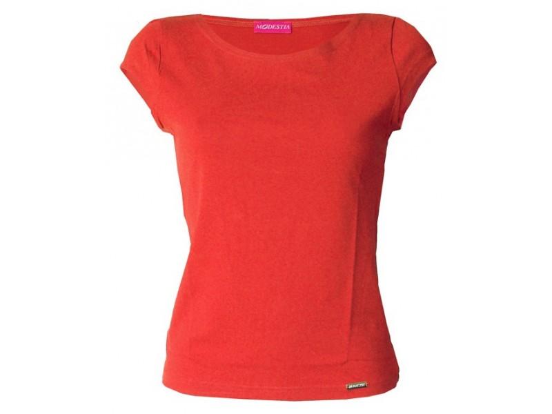 Cihlové jednobarevné triko