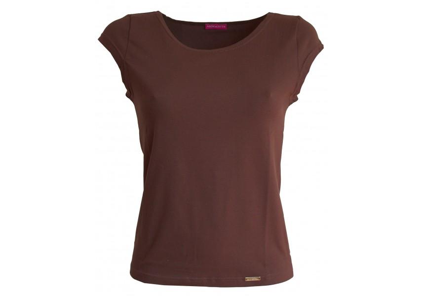 Hnědé jednobarevné triko