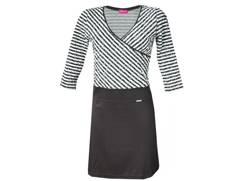 Šaty s překládaným výstřihem