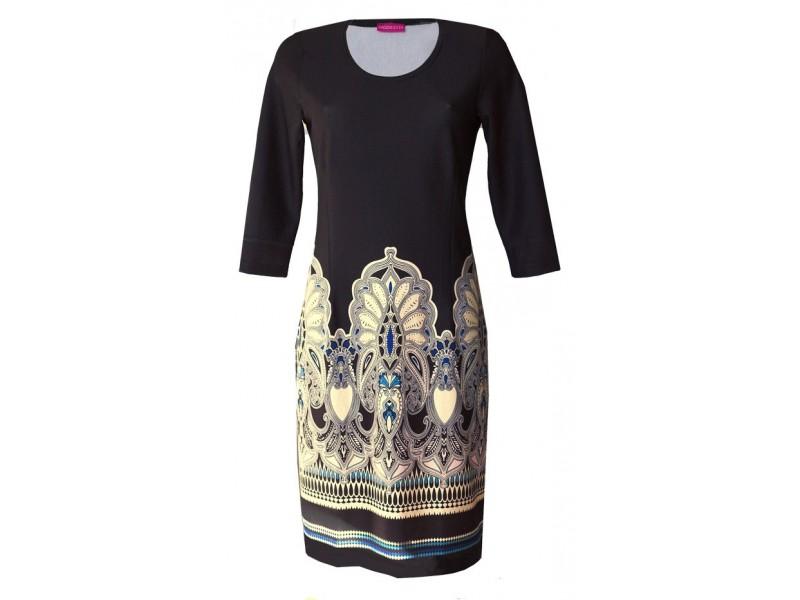 Elegantní šaty s raportem