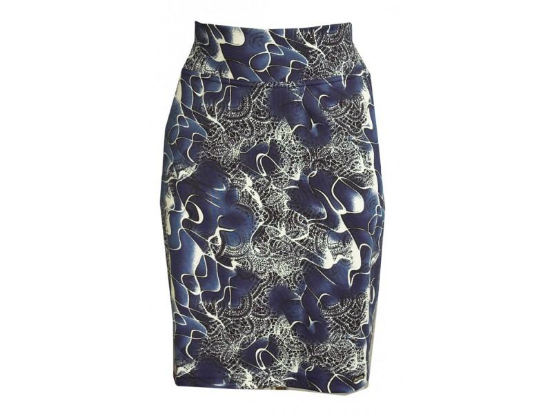 Modro-bílá sukně