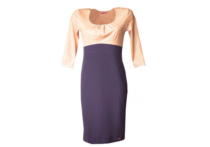 Šaty s růžovým sedlem