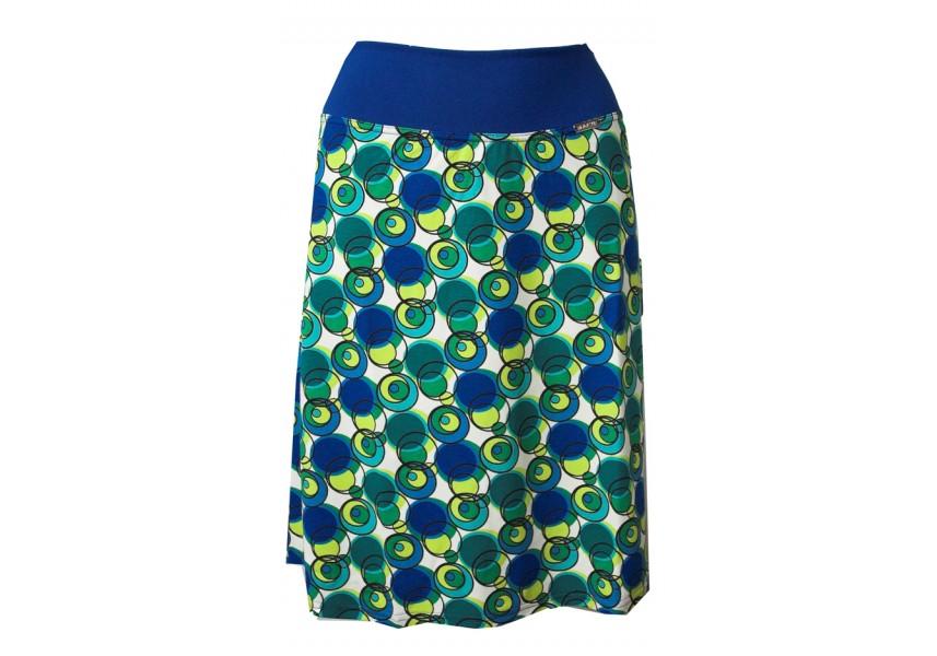 Zeleno-modrá sukně