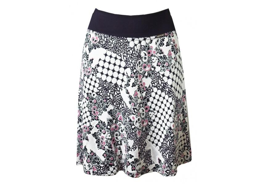 Krátká sukně s plast. tiskem