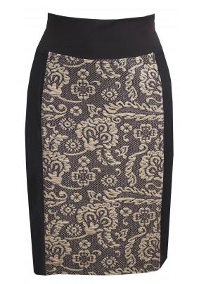 Sukně s černo-zlatým vzorem