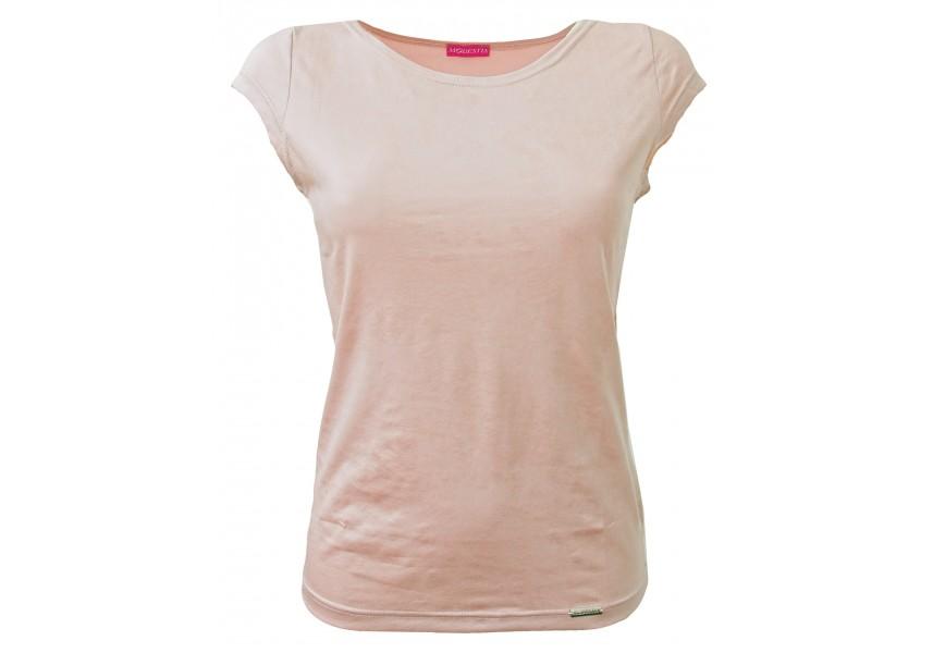 Růžové triko s leskem