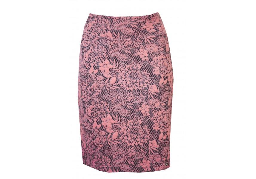 Růžovo-černá sukně