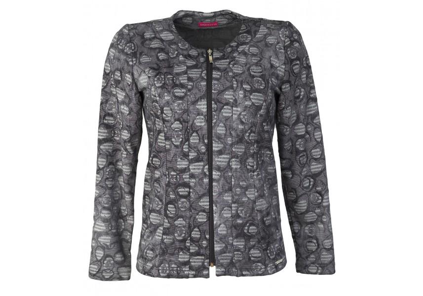 Džínový krátký kabátek na zip