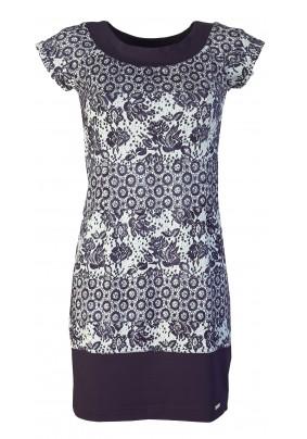 Jarní modro-bílé šaty