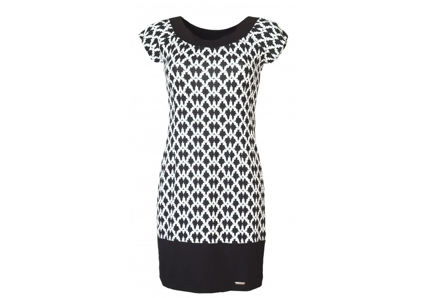 Jarní černo-bílé šaty