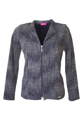 Modro-šedý kabátek