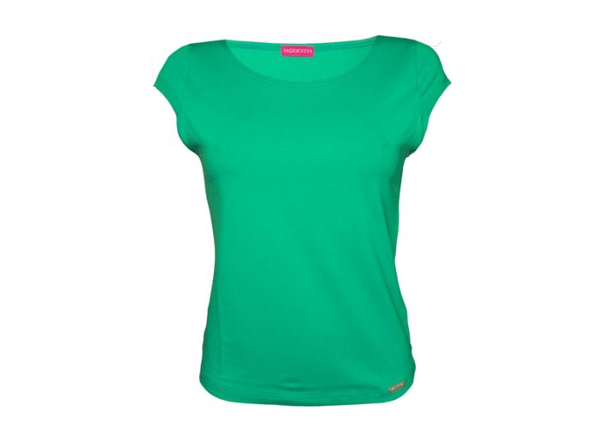 Jednobarevné tyrkysové triko