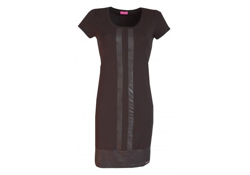 Černé šaty s légou