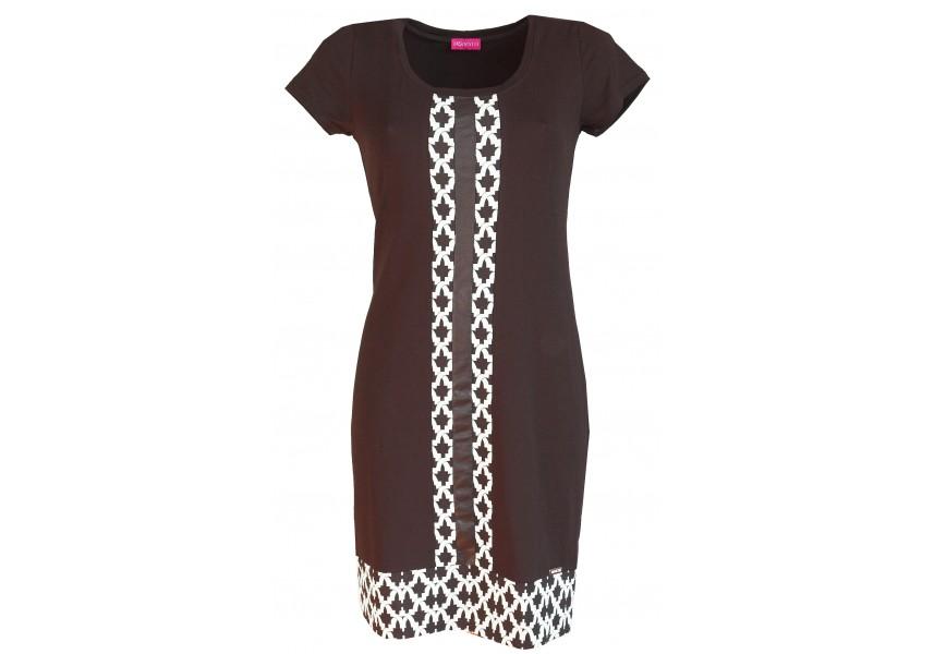 Šaty s černo-bílou légou