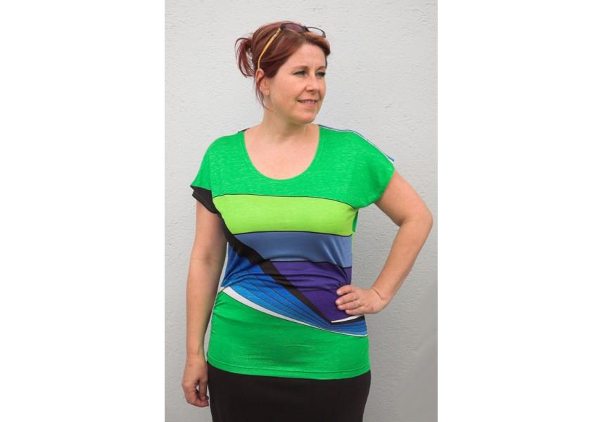 Zeleno-modré tričko