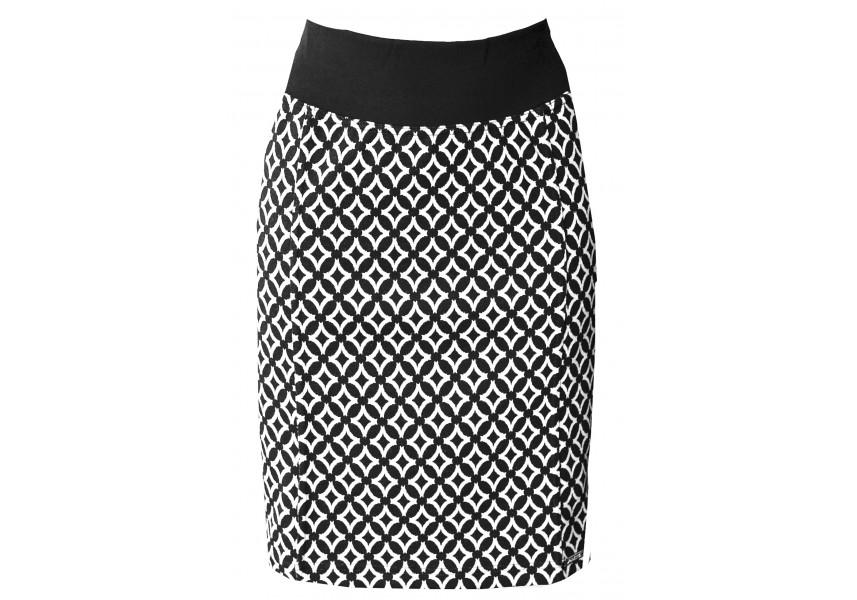 Teplejší černo-bílá sukně