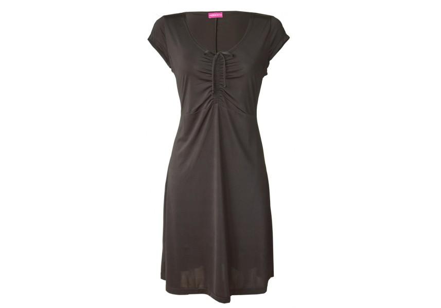 Černé polyesterové šaty