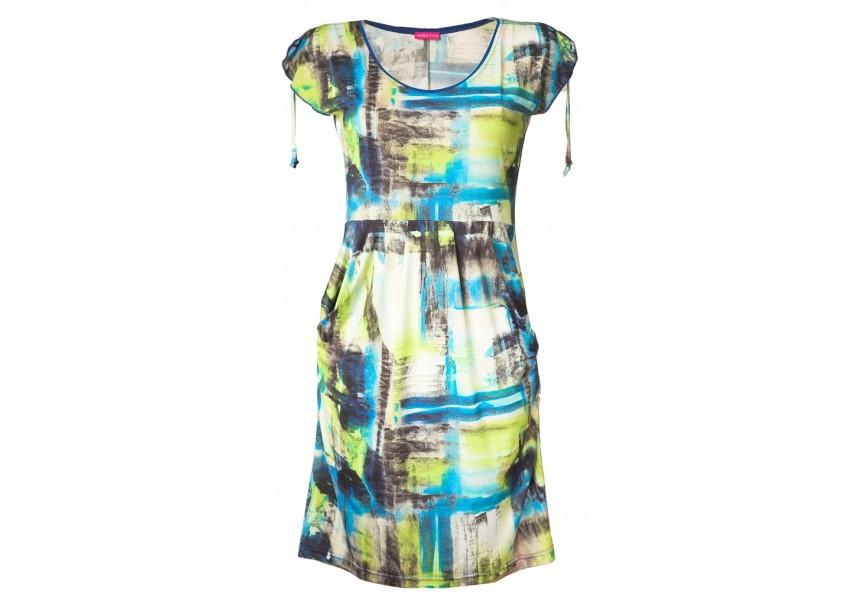 Letní zeleno-modré šaty