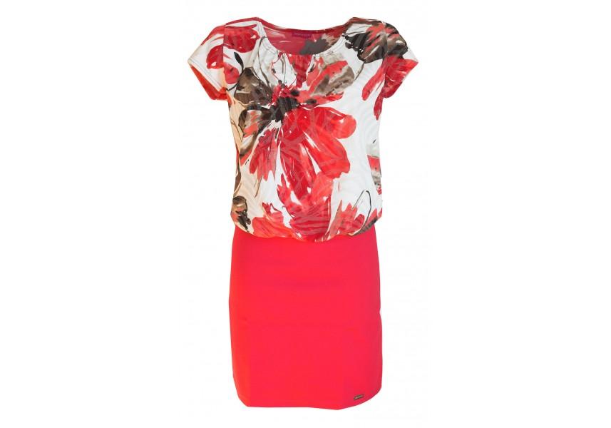 Šaty s červenou sukní