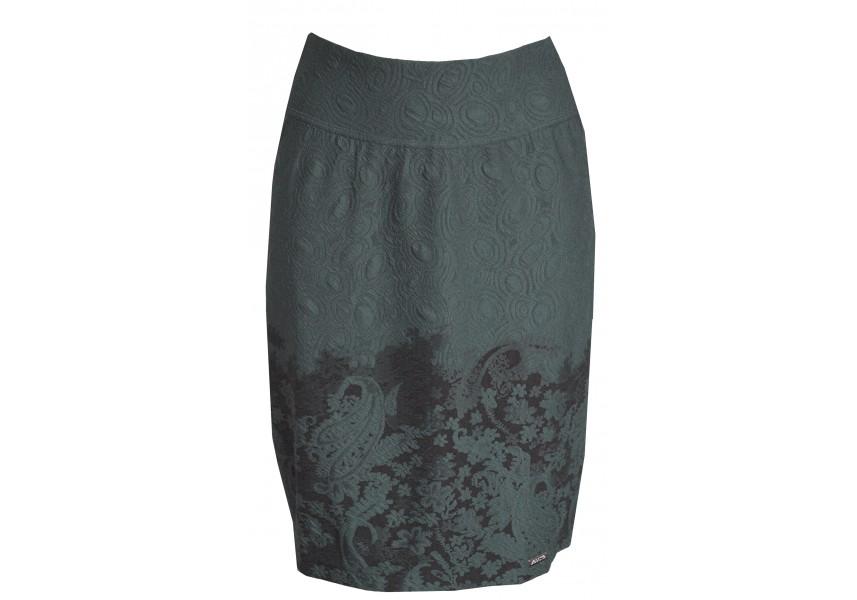 Petrolejová sukně s raportem