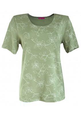 Zelená halenka s jemným vzorem