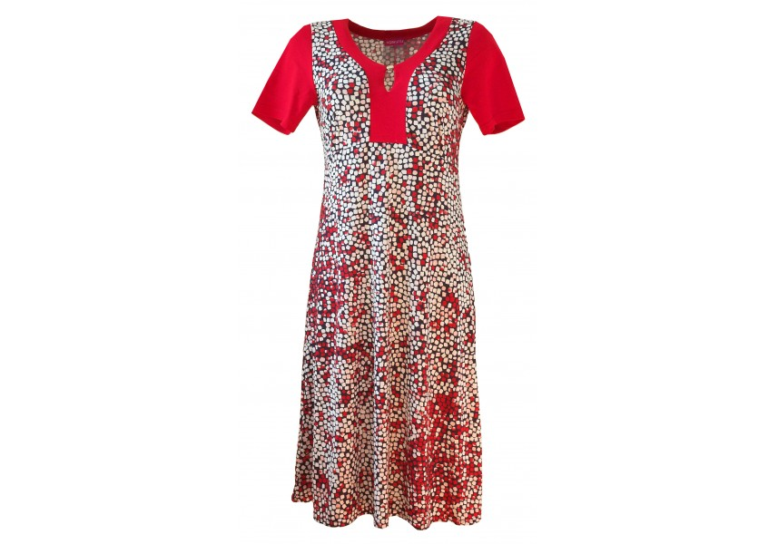 Letní šaty s červeno-bílými kostičkami