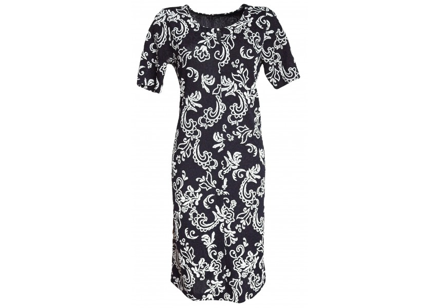 Elegantní modro-bílé šaty