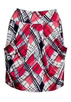 Kostkovaná sukně s kapsami