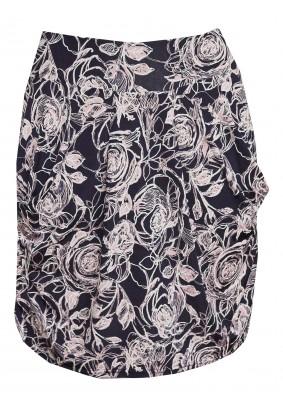 Modro-růžová sukně s kapsami