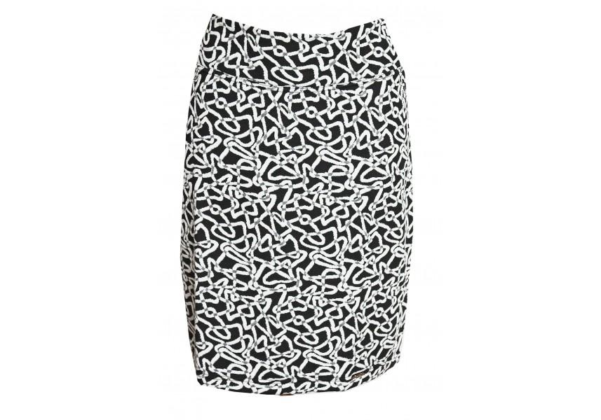 Černo-bílá úzká sukně
