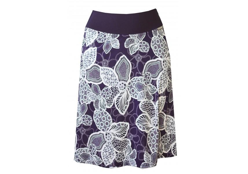 Modro-bílá krátká sukně