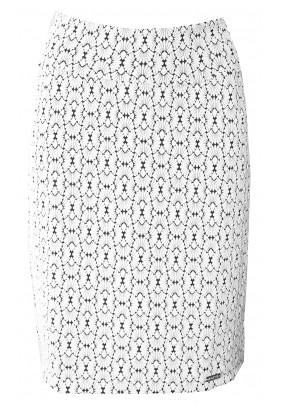 Krátká béžová sukně