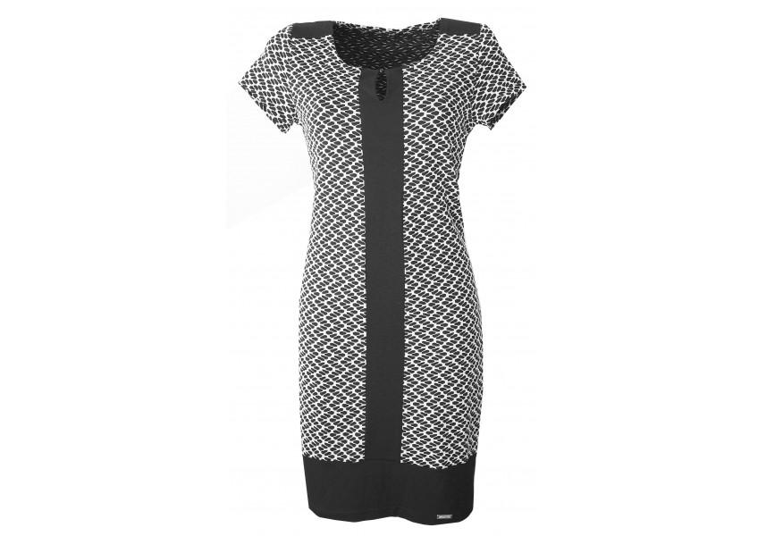 Černo-bílé elegantní šaty
