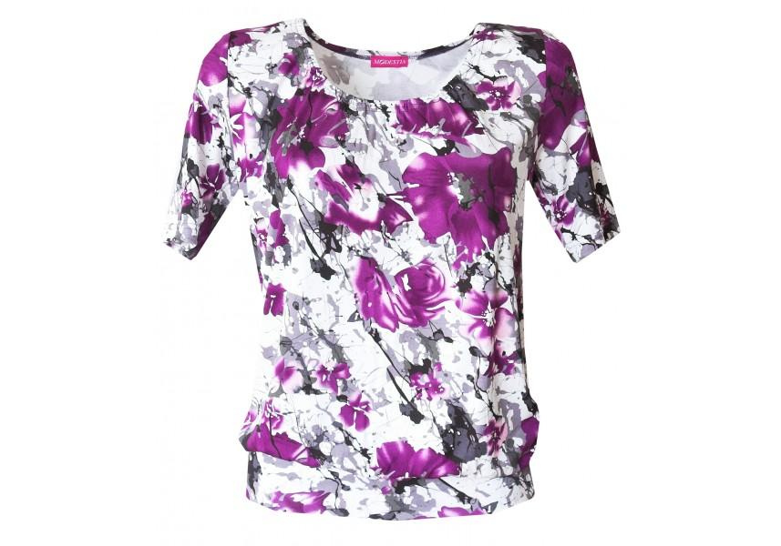 Halenka s fialovými květy