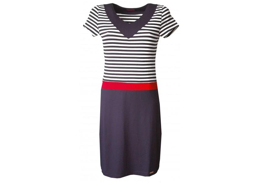 Šaty v námořnických barvách